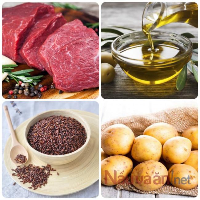nguyên liệu cần thiết nấu cháo thịt bò khoai tây