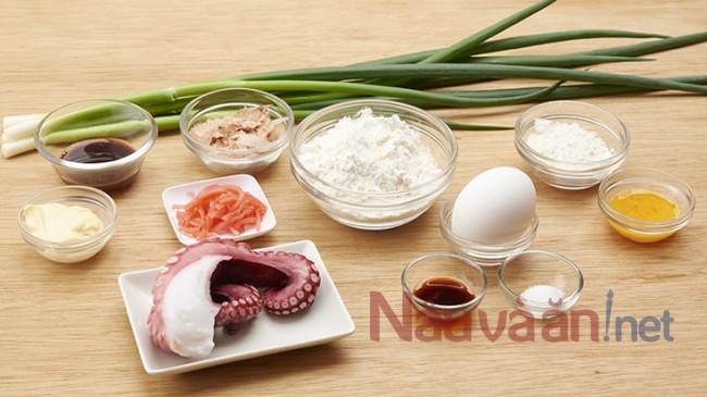 nguyên liệu làm bánh bạch tuộc nướng