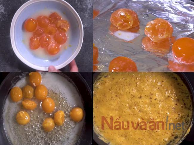 làm phần sốt trứng muối