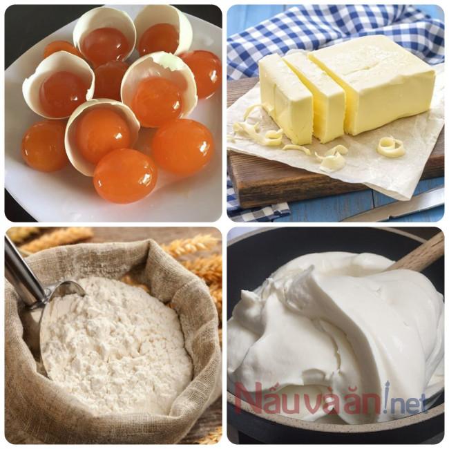nguyên liệu làm bánh trung thu trứng chảy