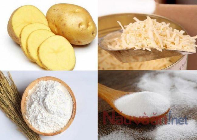 nguyên liệu làm bánh khoai tây bọc phô mai