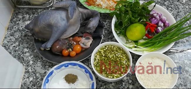 nguyên liệu nấu cháo gà đậu xanh