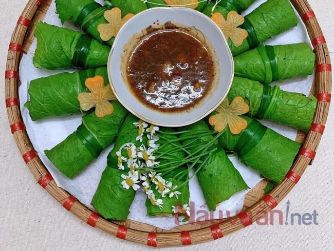 thịt bò cuốn lá cải xanh - nauvaan.net