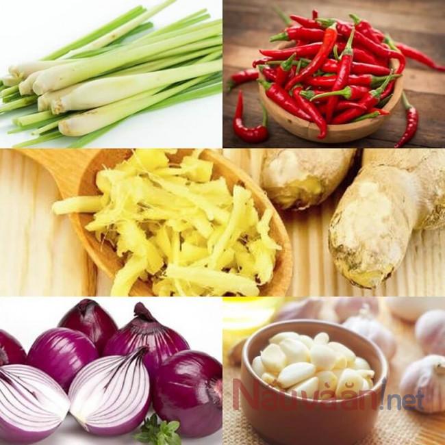 Nguyên liệu chính cho món bò cuốn lá cải - nauvaan.net