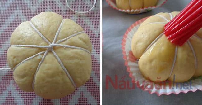 Cách làm bánh bao bí đỏ chay: tạo hình bánh