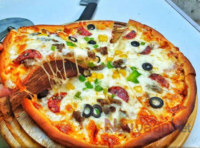 pizza không cần lò nướng