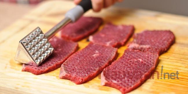 Sơ chế bò bít tết