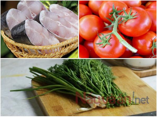 Cách làm cá chép chiên giòn sốt cà chua. Nguyên liệu chính
