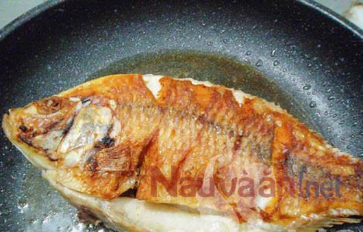 Cách làm cá chép chiên giòn sốt cà chua. Rán cá