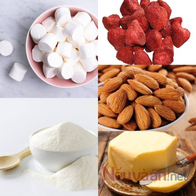 Nguyên liệu làm kẹo Nougat