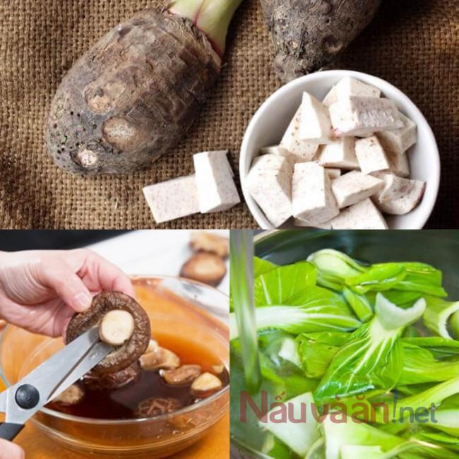 Sơ chế rau củ hầm thịt dê
