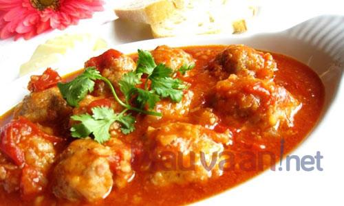 Cách làm xíu mại bọc trứng cút sốt cà chua thơm ngon, đậm đà
