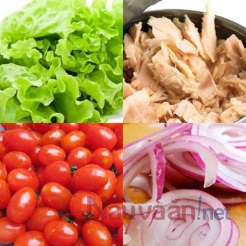 Nguyên liệu làm salad cá ngừ