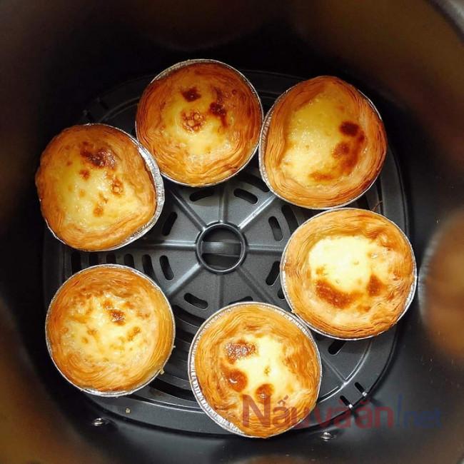 Làm bằng tart trứng bằng nồi chiên không dầu