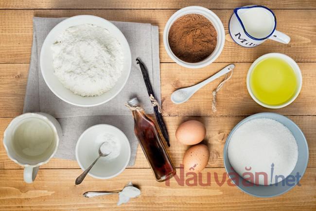 Nguyên liệu làm bánh Tart trứng
