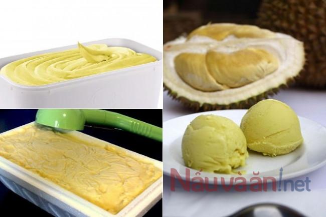 nguyên liệu làm kem sầu riêng