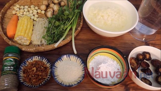 nguyên liệu nấu súp thập cẩm chay