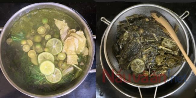nấu siro húng chanh đường phèn