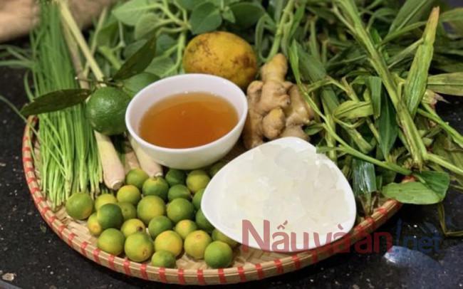 nguyên liệu cho siro húng chanh đường phèn
